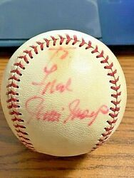 Willie Mays Vintage Signed Autographed Onl Feeney Baseball Giants And Mets Psa