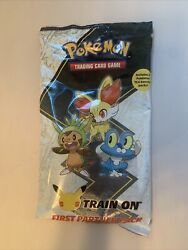 New Sealed In Hand Pokemon First Partner Pack 3 Jumbo Kalos Cards +2 Boosters