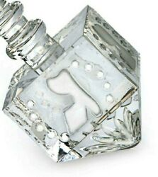 Waterford Crystal Hanukkah Dreidel Etched Frsoted Accents New In Box