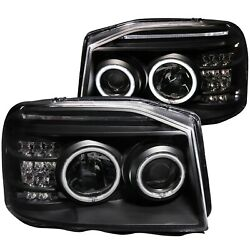 Anzo Usa 111172 Projector Headlight Set W/halo Fits 01-04 Frontier