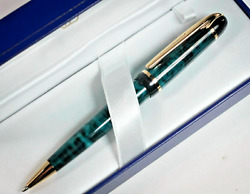 Waterman Phileas Ballpoint Pen Marble Green And Gold New In Box Black Ink