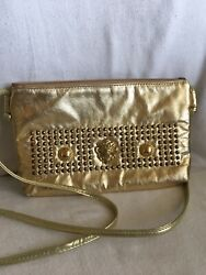 ✨Beverly Hills Crossbody Small Bag Wristlet Color gold $8.50