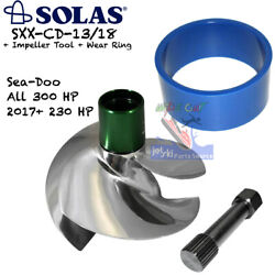 Solas Sea-doo 300 Hp And 230hp Impeller + Tool + Wear Ring - Sxx-cd-13/18 Rxp Rxt