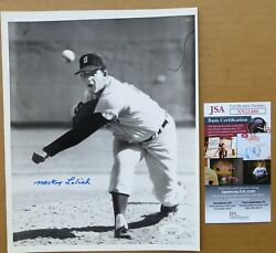 1968 World Series Game Action Mickey Lolich Vintage Signed Wire Photo Jsa