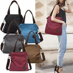 Large Womens Satchel Handbag Shoulder Tote Bag Canvas Crossbody Bag Messenger US $24.99