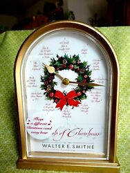 Walter E. Smithe Store Carols Of Christmas Tabletop Clock By Howard Miller