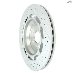 For Mercedes-benz S63 Amg S65 Amg Amg Gt S Rear Set Of 2 Disc Brake Rotor