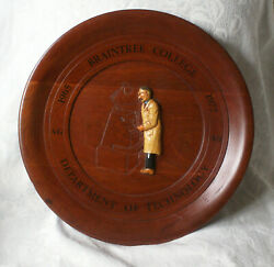Hand Made Wooden Braintree College Dept Of Technology Plaque 1965-77 16 1/2 Inch