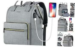 Laptop Backpack for Women Men Travel Backpack for 15.6 Inch Laptop with Grey $41.57
