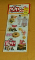 Vintage Wendy's Fast Food Restaurant Puffy Stickers Style B Where's The Beef