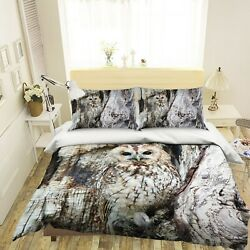 3d Owl Trunk O731 Animal Bed Pillowcases Quilt Duvet Cover Set Queen King Fay