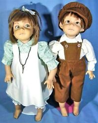 A Pair Of Vintage Lot Rare Original Collectable Dolls From Grossle Schmidt 1990
