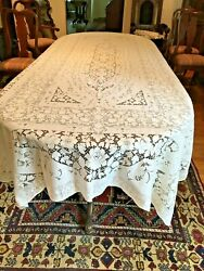 Vintage Quaker Lace Tablecloth 6280 White House Pattern Banquet Size 72 X 126