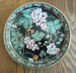 Andrea By Sadek Decorative Plate With Grapes 10 Inch Diameter
