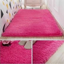 Thickened Washed Silk Hair Non-slip Carpet Living Room Coffee Table Plush Rug
