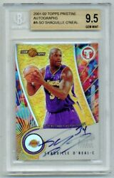 2001-02 Pristine Autographs Shaquille Oand039neal Bgs 9.5 Bold Auto Shaq Old Label