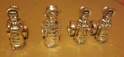 4 Victorian Figural Napkin Rings Silverplate Kate Greenaway Derby Silver