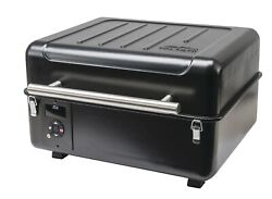 Wood Pellet Grill Cast Iron Griddle Outdoor Cooking Portable Griller Smoker Bbq