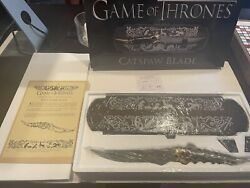 Official Hbo Game Of Thrones - New Catspaw Replica Blade 1188 Rare Collectible