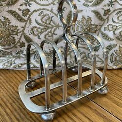 Early 20th Century Walker And Hall Sheffield Silver Plate Toast Holder