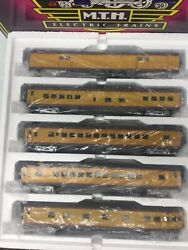 Mth 20-6598 O Scale Up 70'abs Smooth Streamlined Passenger Car Set Of 5 3-rail