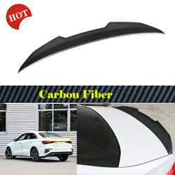 Carbon Fiber Rear Trunk Spoiler Boot Wing Trim Body Kit Fit For Audi A3 2020up