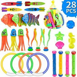 Diving Toys 28 Pcs Underwater Swimming Pool Toys Water Game For Kids Ages 3+