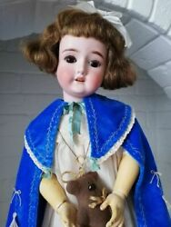 1909 Antique Rare German Doll Girl Porcelain 60 Cm By Shoneau Hoffmeister Marked