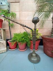 1890's Old Antique Brass Copper Islamic Mughal Handcrafted Big 35.5 Hookah Pot