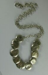 Silpada N1984 Sterling Still Shining Hammered Circle Disc Necklace