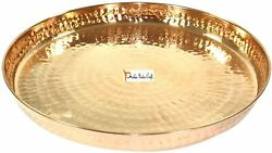 Best Pure Copper Hammered Dinner Set Thali Plate Serve And Dinnerware 13 In Dia