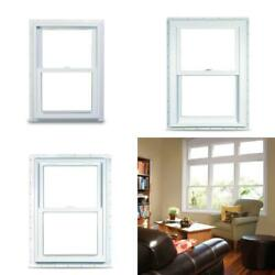 29.75 In. X 52.75 In. 70 Series Double Hung White Vinyl Window With Nailing Flan