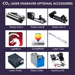 Co2 Laser Engraver Accessories -rotary Axis Water Chiller Autofocus Kit And Parts