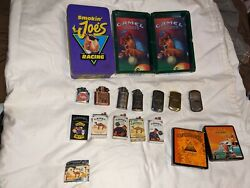 Vintage Camel Zippo Lighter Lot With Matches And Ashtray And Plastic Cups