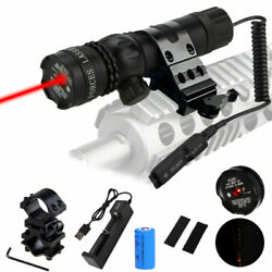 Pinty Tactical Hunting Rifle Green Dot Laser Sight Scope W/ Switches+rail+mounts
