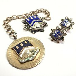 Wwii Military Sweetheart Lot Pins Earrings 112th Engineer Battalion Insignia