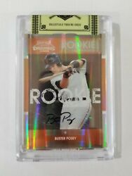 2008 Playoff Contenders 2 Buster Posey Uncirculated Rookie Auto Batting Var.