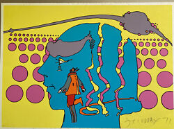 Peter Max St. Paul 1971 Larges Signed Numbered 12/100 Rare Early Psychedelic