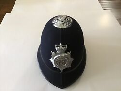 Vintage Er Leicester And Rutland Police Bobby Constabulary Hat Helmet 6 7/8