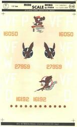 132 P-47 Thunderbolt 4th Fighter Group Micro Scale Microscale Decals Sheet 32-5