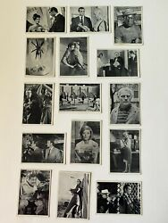 1965 James Bond 007 Trading Cards Glidrose Black And White Photo Lot 38 Different
