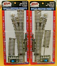 Lot Of 2 - Ho Scale - Atlas 540 And 541 Code 83 Remote Switch Left And Right