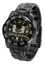 Miami Hurricanes Licensed Ncaa Fantom Sport Watch, Dog Tag And Wallet