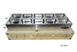 110v 10 Pan Electric Commercial Stainless Steel Countertop Food Warmer