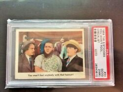 1959 The Three 3 Stooges 64 Checklist You Wonand039t Fool ... Psa 2mk Look