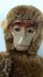 Vintage Early Schuco Mini Metal Face Yes/no Monkey Chimp 11cm 4 1/2 Inches