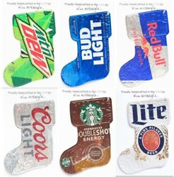 Stocking Christmas Ornament Handmade With A Recycled Aluminum Can You Choose