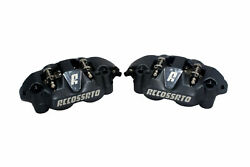 Pair Radial Brakes Calipers Accossato Forged Monoblock Pistons 108 Mm Pz004a-st