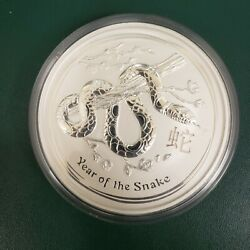 2013 Kilo Silver Coin. Year Of The Snake. Australian Perth Mint In Display Box
