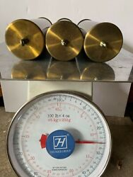 Set Of 3 Vintage/antique Grandfather Clock Weights Shell